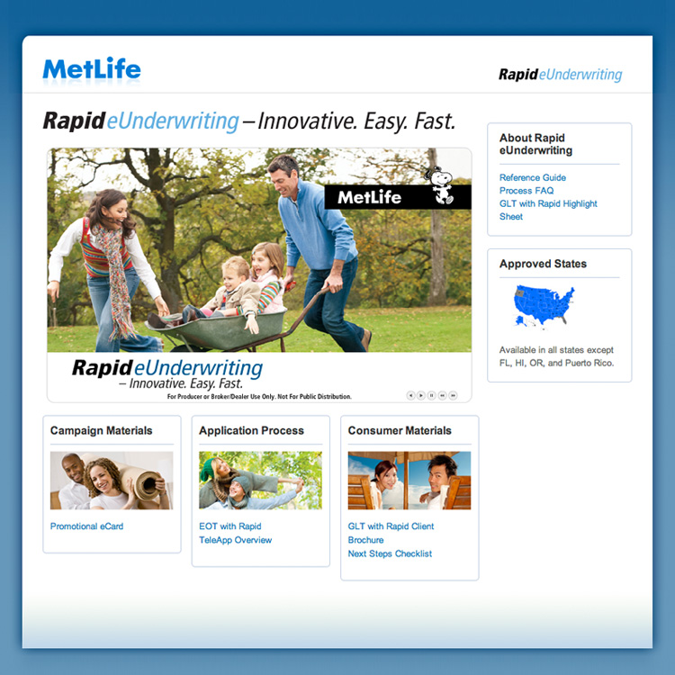 Rapid eUnderwriting Microsite.